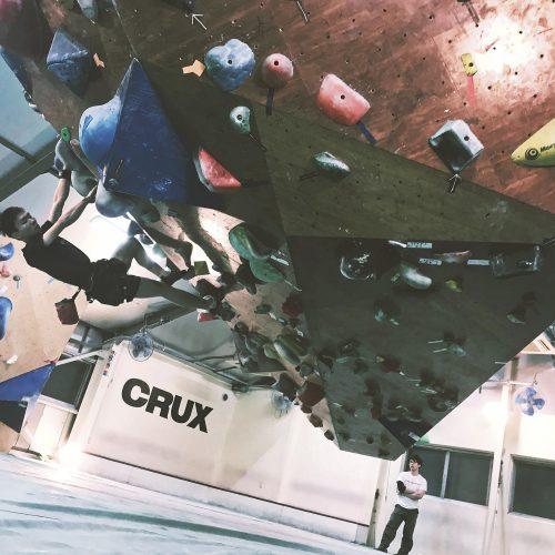 CRUX大阪・台湾からのクライマー